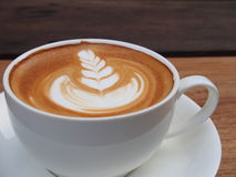 Latte art coffee Royalty Free Stock Photography