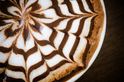 Latte art. Cup of coffee with latte art Royalty Free Stock Image