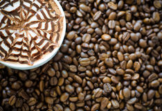 Latte art Stock Image