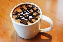 Latte art design in mug Stock Photos