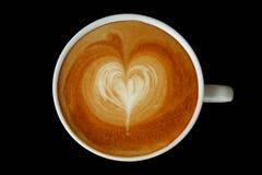 Latte Art : Heart. Latte Art free pour steamed milk to make a heart Royalty Free Stock Image