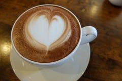 Latte Art Heart Arkivbild
