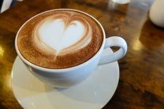 Latte Art Heart Royaltyfri Foto