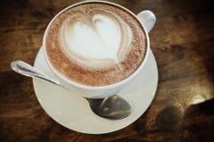 Latte Art Heart Fotografering för Bildbyråer