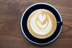 Latte art. Stock Images