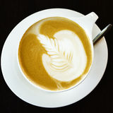 Latte art hot coffee Royalty Free Stock Photos