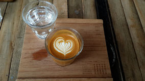 Latte art& machiato Royalty Free Stock Images