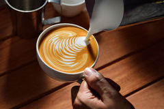 Latte art Royalty Free Stock Image