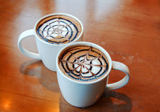 Latte art in mug Royalty Free Stock Photography