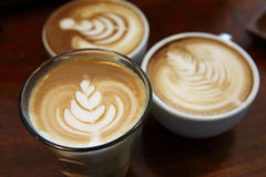 Latte art Stock Image
