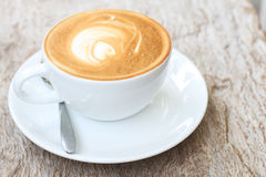 Latte art  on Royalty Free Stock Photography