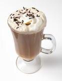 Latte asperjado chocolate Fotografía de archivo libre de regalías