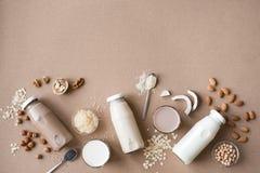 Latte basato varia pianta fotografie stock libere da diritti