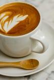 Latte bianco della tazza di caffè Fotografia Stock