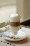 Latte in a cafe Royalty Free Stock Photo