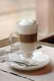 Latte in a cafe Royalty Free Stock Image