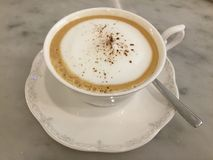 latte Caffè classico immagini stock