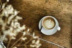 Latte caldo del caffè dentro Immagine Stock