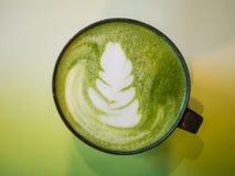 Latte caldo del tè verde Fotografia Stock Libera da Diritti