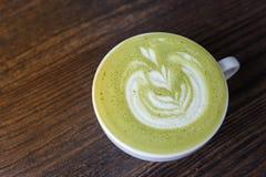 Latte caldo di matcha del tè verde immagini stock libere da diritti