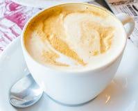Latte caliente Imagen de archivo libre de regalías