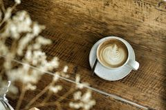 Latte caliente del café adentro Imagen de archivo