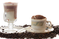 Latte and cappuccino Stock Photography