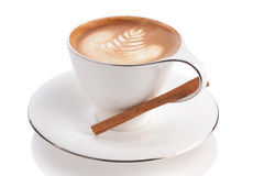 Latte or cappuccino Royalty Free Stock Images