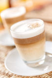 Latte or cappuccino coffee Royalty Free Stock Photo