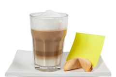 Latte Cappuccino in a tall glass Stock Photography