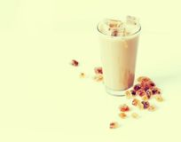 Latte with caramel Royalty Free Stock Image