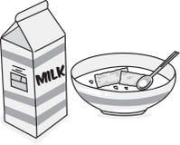 Latte & cereale immagine stock