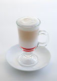 Latte with cherry syrup Royalty Free Stock Photography