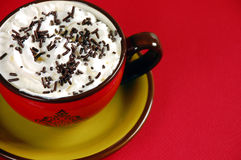 Latte with chocolate sprinkles Royalty Free Stock Photo
