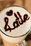 Latte closeup Royalty Free Stock Photography