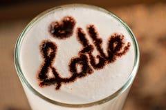 Latte closeup Stock Photos