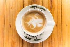 Latte coffe art. Stock Fotografie