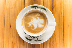 Latte coffe sztuka Fotografia Stock