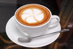 Latte coffee art Royalty Free Stock Images