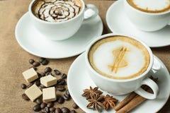 Latte Coffee art Stock Photography