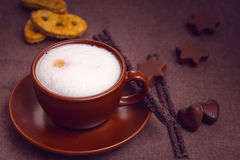 Latte coffee cup Stock Image