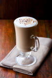 Latte coffee in a glass Stock Photography