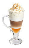 Latte, Coffee Isolated On White. Stock Images