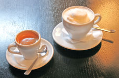 Latte and coffee a la Vienna Stock Images