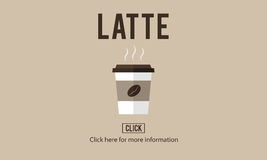 Latte Coffee Milk Foam Froth Caffeine Beverage Concept Stock Image