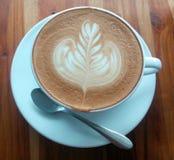 Latte coffee. Coffee in Restaurant Stock Photos