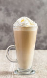 Latte coffee on table Royalty Free Stock Photography