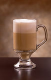 Latte coffee on table Royalty Free Stock Image