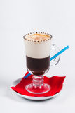 Latte coffee on white background.  Stock Images