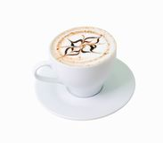 .latte coffee with white chocolate Stock Photo